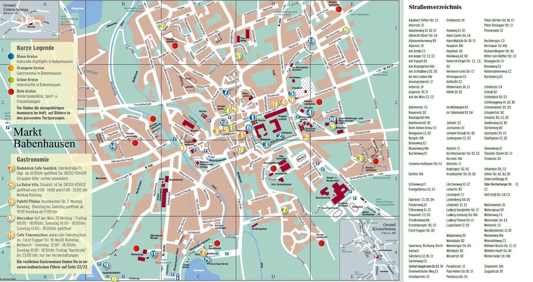Babenhausen Stadtplan Gastfreund