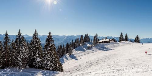 Im Skigebiet Brauneck-Lenggries