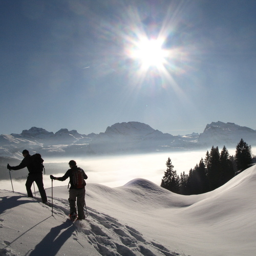 Schneeschuhwandern im Muotatal