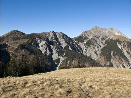 Gipfelausblick vom Gütenberg zu Plumsjoch und Montscheinspitze