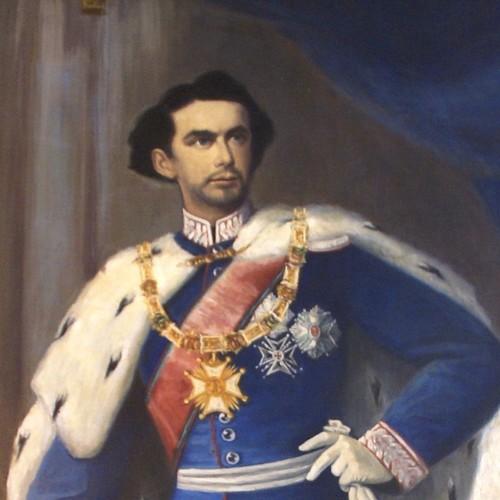 König Ludwig II. farbiges Bild