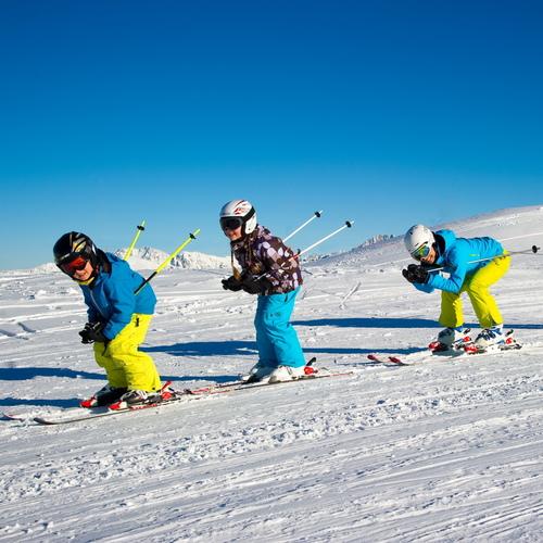 Skigebiet Winter