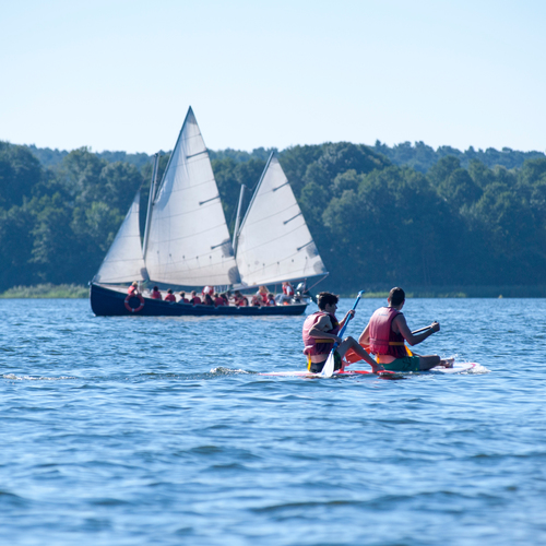 Segeln und Stand Up Paddling Wolziger See
