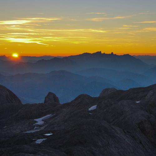 Sonnenaufgang über der Übergossenen Alm
