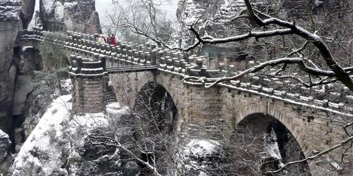 Bastei im Winter