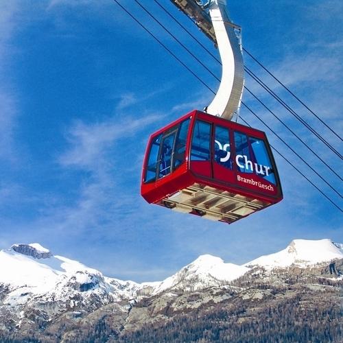 Bergbahn Chur Brambrueesch Winter