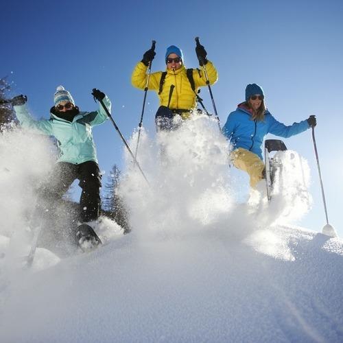 Schneeschuhlaufen Davos Winter