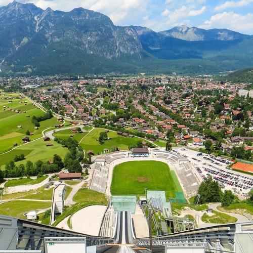 Garmisch-Partenkirchen von oben