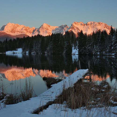 Geroldsee bei Krün im Winter