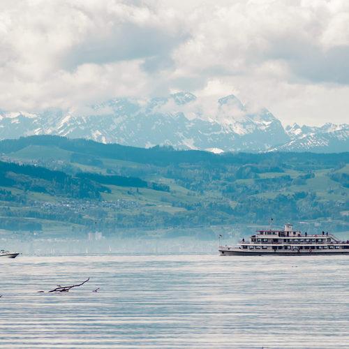 Bodensee und Schiff