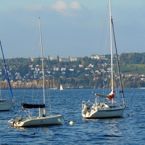 Boote vor Konstanz
