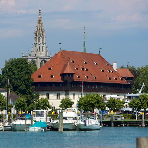 Konstanz Konzilgebäude und Münster Mende