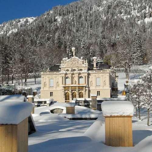 Schloss Linderhof im Winter
