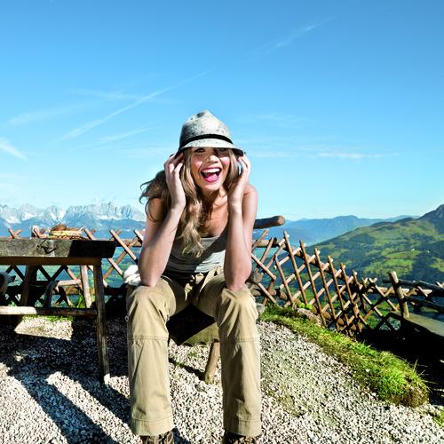 Frau in Kitzbühel