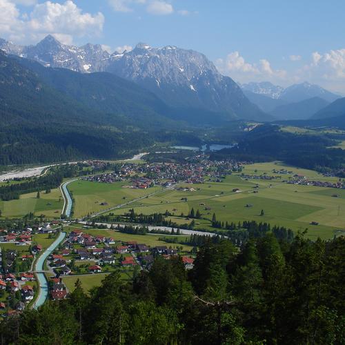 Panorama der Alpenwelt Karwendel