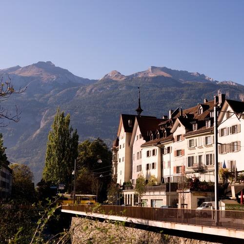 Altstadt Chur mit Calanda