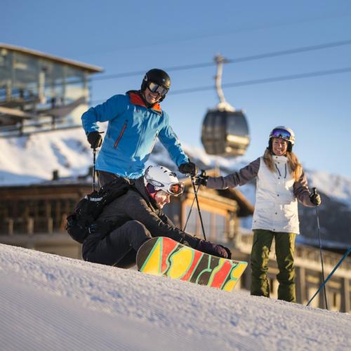 Skigebiet Flims Laax Falera - Einstieg Falera