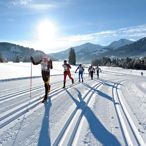 Ski-Trail im Tannheimer Tal