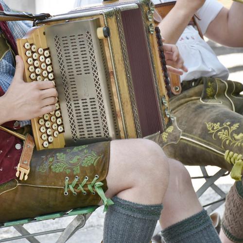 Musikanten mit Akkordeon
