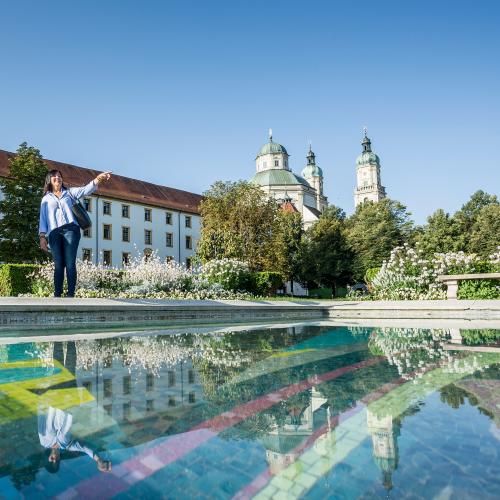 Stadtführung - Halt am Hofgarten-Brunnen