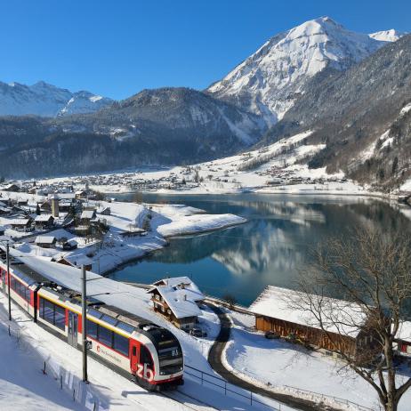 Luzern-Interlaken Express am Lungernsee