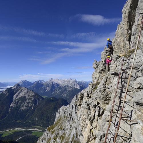 Klettersteig in der Alpenwelt Karwendel