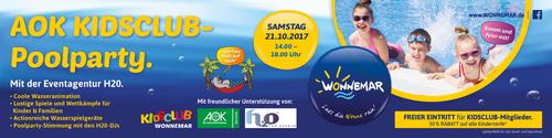 AOK KIDSCLUB Poolparty 2017 im WONNEMAR Sonthofen