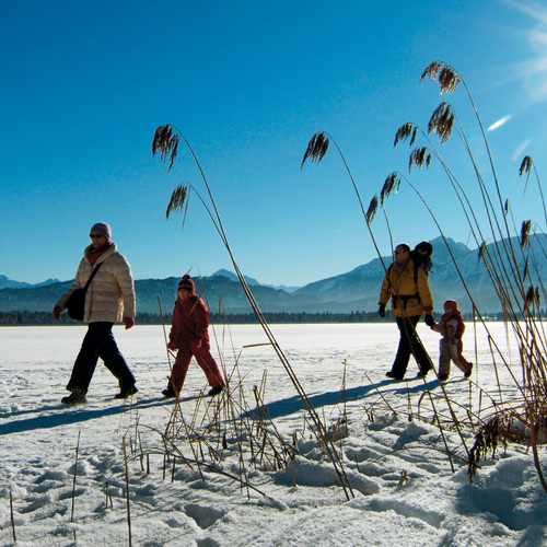 Winterwanderung auf dem Hopfensee