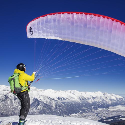 Snowkiten Axamer Litzum Tirol