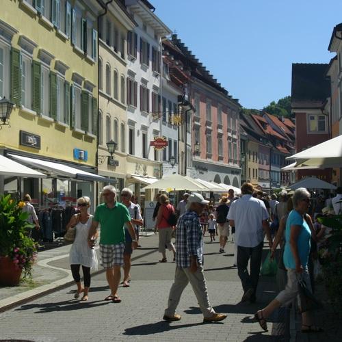 Fußgängerzone in Überlingen am Bodensee
