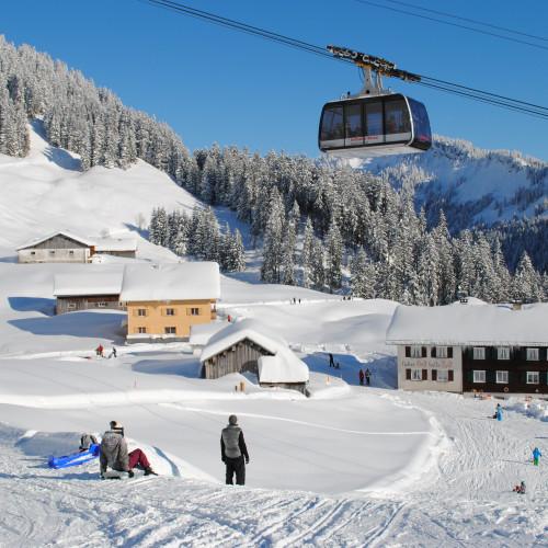 Sonnalp im Winter - Rodelspass