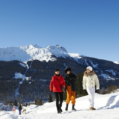 Winterwandern Richtung Alpenrösli Klosters