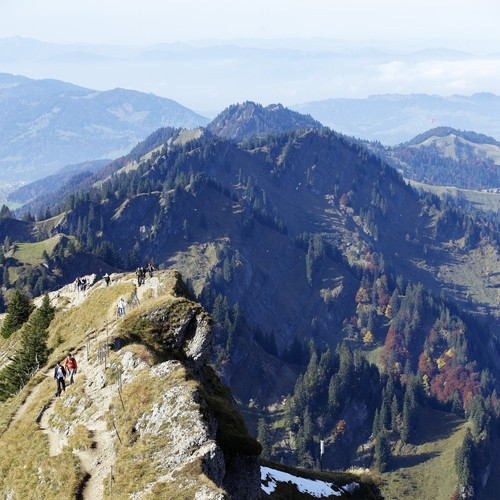 Alpines Gelände in Oberstaufen