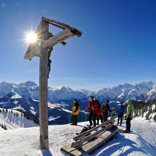 Schneeschuhplausch auf dem Hüenderegg