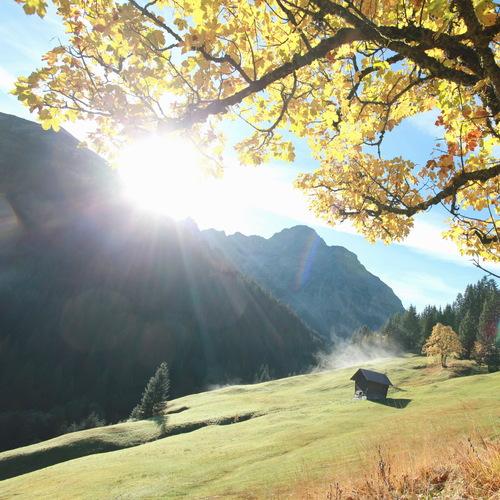 Kleinwalsertal Widderstein im Herbst