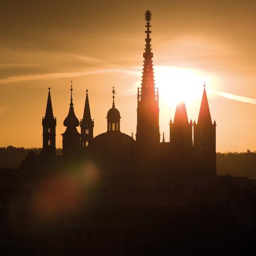 Sonnenaufgang Türme Innenstadt