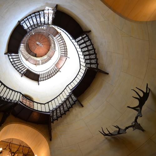 Jagdschloss Granitz Innentreppe im Turm