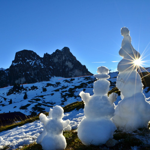 Schneemänner auf dem Breitenberg