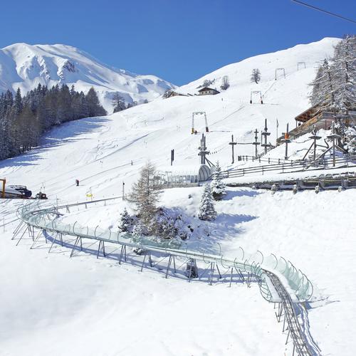 Rodelbahn Pradaschier im Winter
