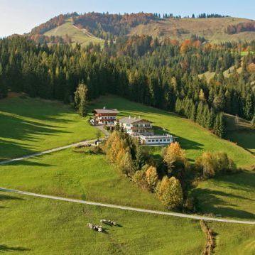 Sommerpanoramaansicht Ferienhof Obertenn, Hochfilzen
