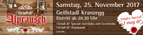 Griaß di´ Alprausch-Party in Kranzegg 2017