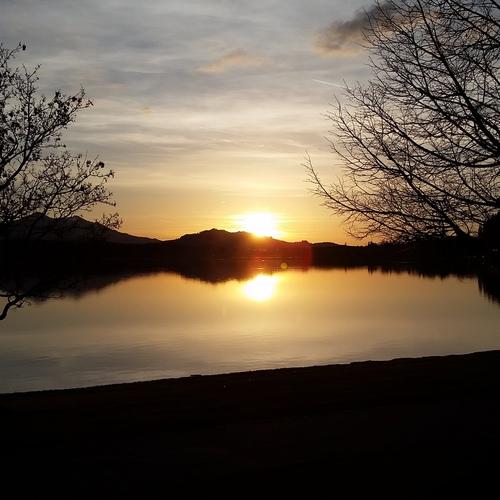 Sonnenuntergang Hopfen am See