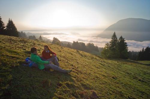 Blick über den Alpsee oberhalb von Immenstadt bei Obheiter