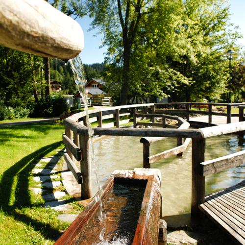 Kneippen Wasserpark Russbach
