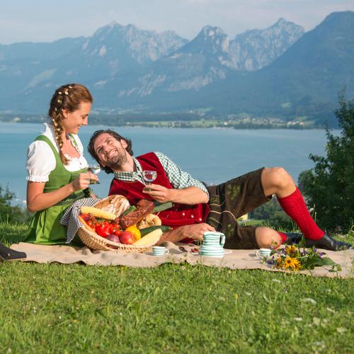 Picknick am Wolfgangsee
