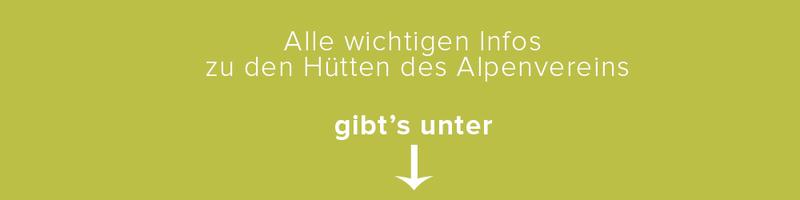 Tipp Alpenvereinshütten