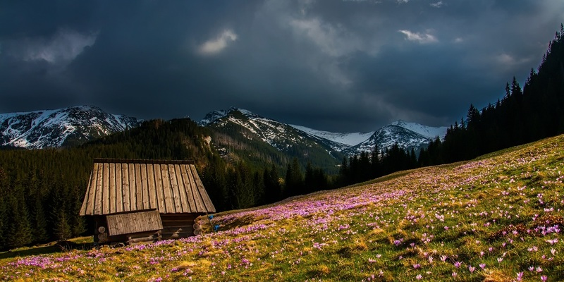 Schlechtes Wetter in den Bergen