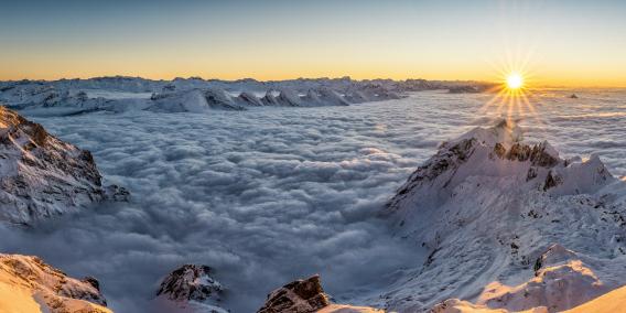 Winterblick vom Säntis