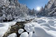 Engstligenbach Adelboden im Winter