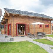 Blockhaus an der Skiwiese